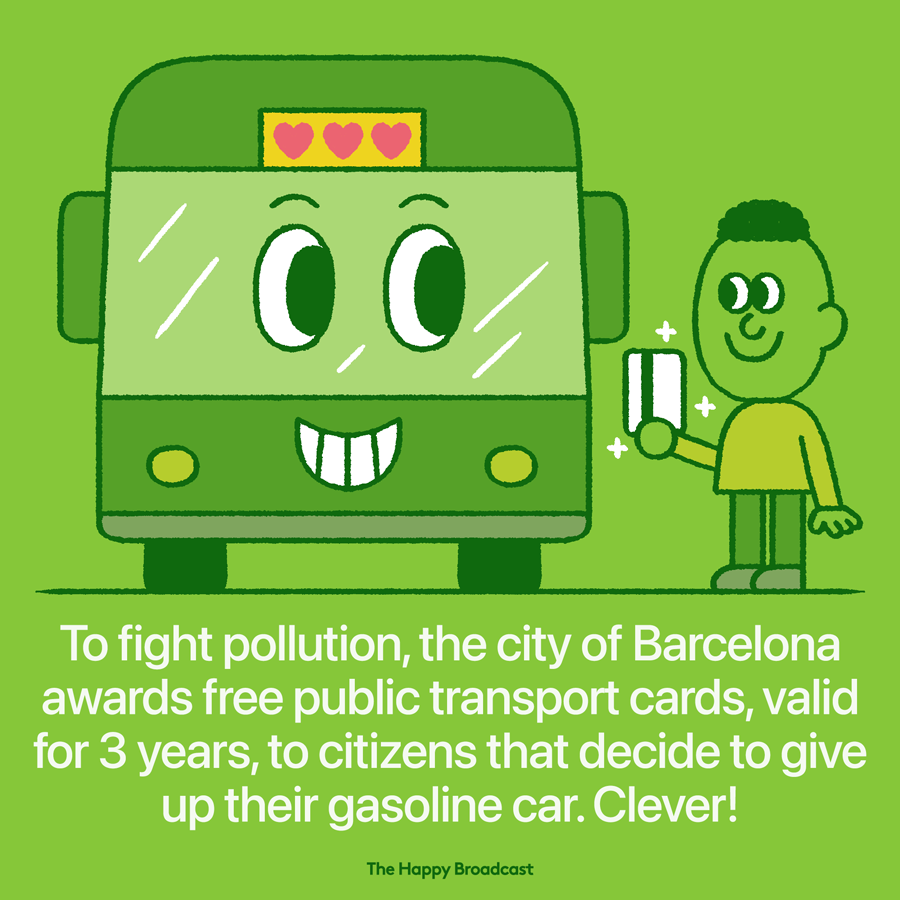 Barcelona offers free public transportation to former car owners