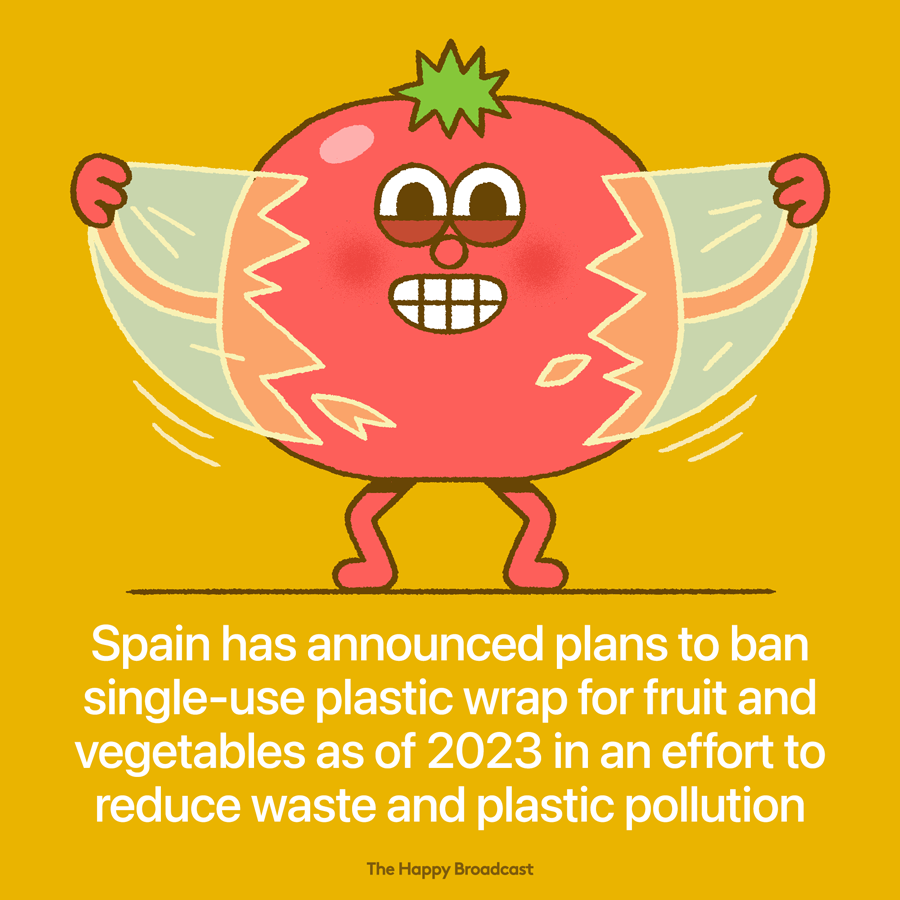 Spain to ban plastic wrap for produce